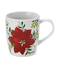 LivingQuarters Poinsettia Mug