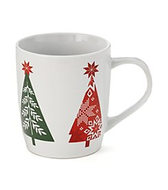 LivingQuarters Winter Trees Mug