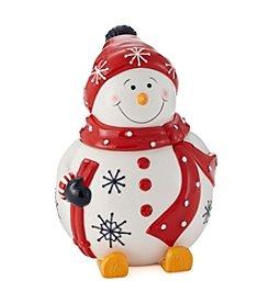 LivingQuarters Snowman Cookie Jar