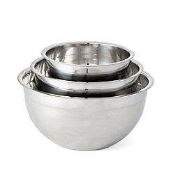 Chef's Quarters® Stainless Steel 3-Pc. Mixing Bowl Set