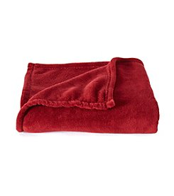 LivingQuarters Ruby Wine Micro Cozy Throw