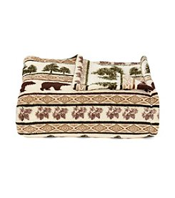 LivingQuarters Lodge Stripe Micro Cozy Throw
