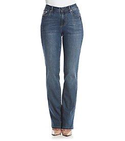 Earl Jean® V-Stitch Flat Pocket Slimboot Jeans