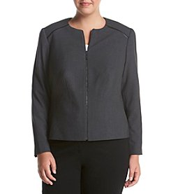 Calvin Klein Plus Size Solid Zip Front Jacket