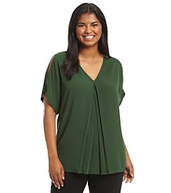 MICHAEL Michael Kors® Plus Size Solid Cold Shoulder Top