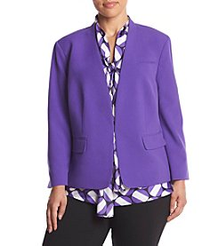 Nine West® Plus Size Solid Kiss Front Jacket