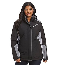 Below Zero Plus Size Colorblock Jacket