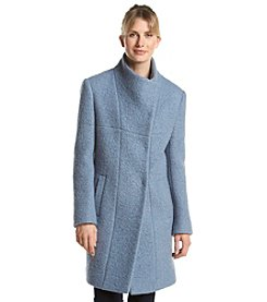 Kenneth Cole® Asymmetrical Wing Collar Coat