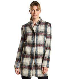 Kenneth Cole® Plaid Walker Coat