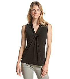 Relativity® Solid V-Neck Tank Top