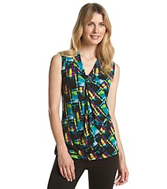 Relativity® Painters Palette Printed V-Neck Tank Top