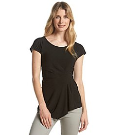 Relativity® Solid Side Drape Top
