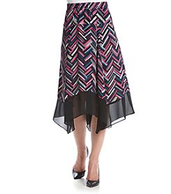 Relativity® Pull On Chevron Sharkbite Skirt