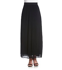 Relativity® Pleated Chiffon Maxi Skirt