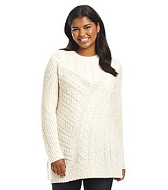Ruff Hewn Plus Size Cable Knit Pullover Sweater