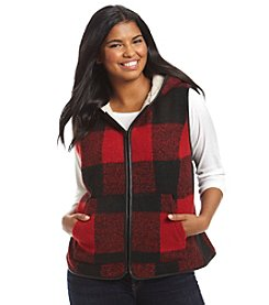 Ruff Hewn Plus Size Faux Sherpa Lined Hooded Vest
