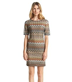 Jessica Howard® Chevron Patterned Sheath Dress