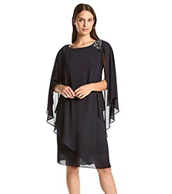 Jessica Howard® Beaded Shoulder Caplet Dress