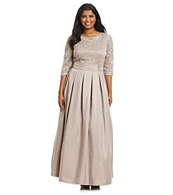 Jessica Howard® Plus Size Lace Ballgown