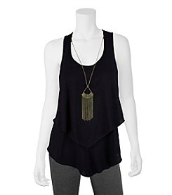 A. Byer Tiered Tank With Necklace