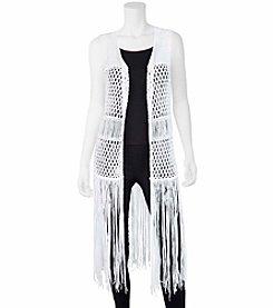 A. Byer Fringe Sweater Vest