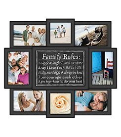 Malden 8-Photo Family Rules Collage Frame