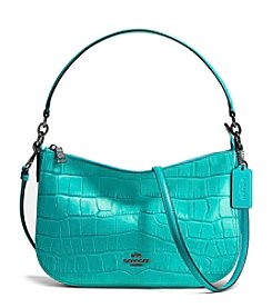 COACH CHELSEA CROSSBODY IN CROC EMBOSSED LEATHER