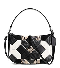 COACH CANYON QUILT CHELSEA CROSSBODY IN EXOTIC EMBOSSED LEATHER