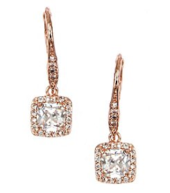 Anne Klein® Rose Goldtone Stone Drop Earrings