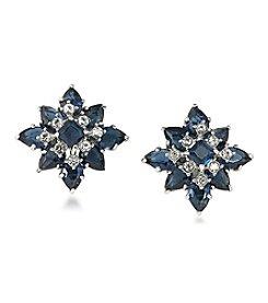 Carolee® Silvertone New York Star Clip On Earrings