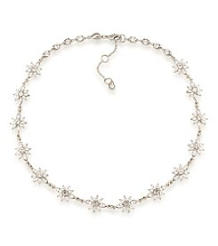 Carolee® Silvertone New York Star Clear Simulated Crystal Choker Necklace