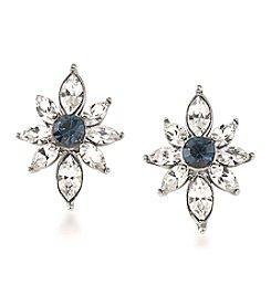 Carolee® Silvertone New York Star Stud Pierced Earrings