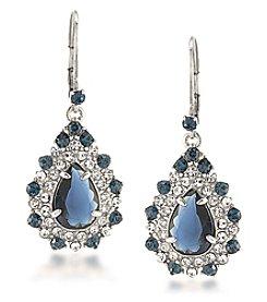 Carolee® Silvertone New York Star Statement Drop Pierced Earrings
