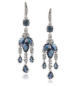 Carolee® Silvertone New York Star Mini Chandelier Pierced Earrings