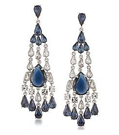 Carolee® Silvertone New York Star Statement Chandelier Pierced Earrings