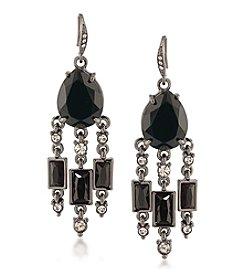 Carolee® Silvertone Gotham Chandelier Pierced Earrings