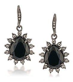 Carolee® Silvertone Gotham Drop Pierced Earrings