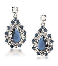 Carolee® Silvertone New York Star Cluster Drop Pierced Earrings