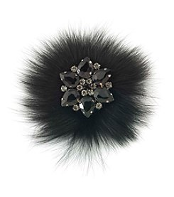 Carolee® Silvertone Gotham Fur Pin
