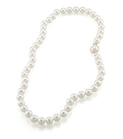 Carolee® Glass Pearl Necklace With Silvertone Clasp