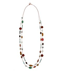 Erica Lyons® Copper Tone Sunrise In Sedona Long Double Row Illusion Necklace