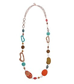 Erica Lyons® Copper Tone Sunrise In Sedona Long Strand Necklace