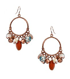 Erica Lyons® Copper Tone Sunrise In Sedona Hoop Drop Pierced Earrings