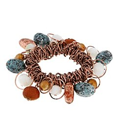 Erica Lyons® Copper Tone Sunrise In Sedona Shaky Stretch Bracelet