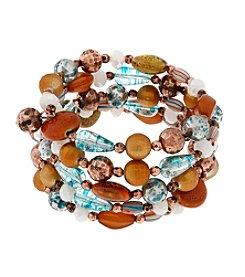 Erica Lyons® Copper Tone Sunrise In Sedona Coil Bracelet