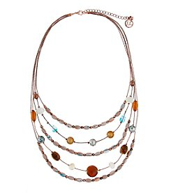 Erica Lyons® Copper Tone Sunrise In Sedona Long Layered Necklace