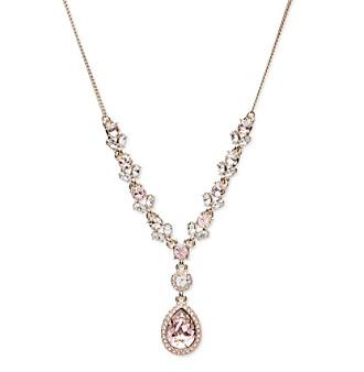 Givenchy® Goldtone Vintage Rose Y Necklace