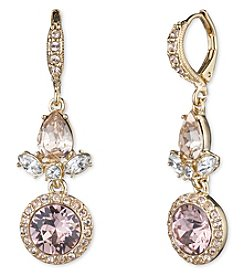Givenchy® Goldtone Vintage Rose Round Drop Earrings