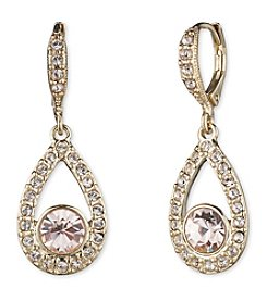 Givenchy® Goldtone Silk Pear Drop Earrings