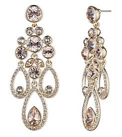 Givenchy® Goldtone Silk Drama Chandelier Earrings